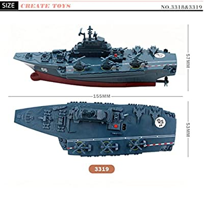 Elevin(TM) Racing Boat, 2.4 G Remote Control Challenger Aircraft Carrier RC Boat Warship Battleship