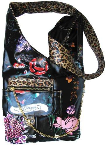 ED HARDY Wild Fleur GARDENIA Black Cross Body Bag  Amazon.co.uk  Luggage 310fcceb51f18