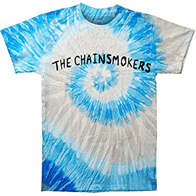 Chainsmokers Men's Logo Blue Swirl Tye Dye Mens T Tie Dye T-Shirt Blue