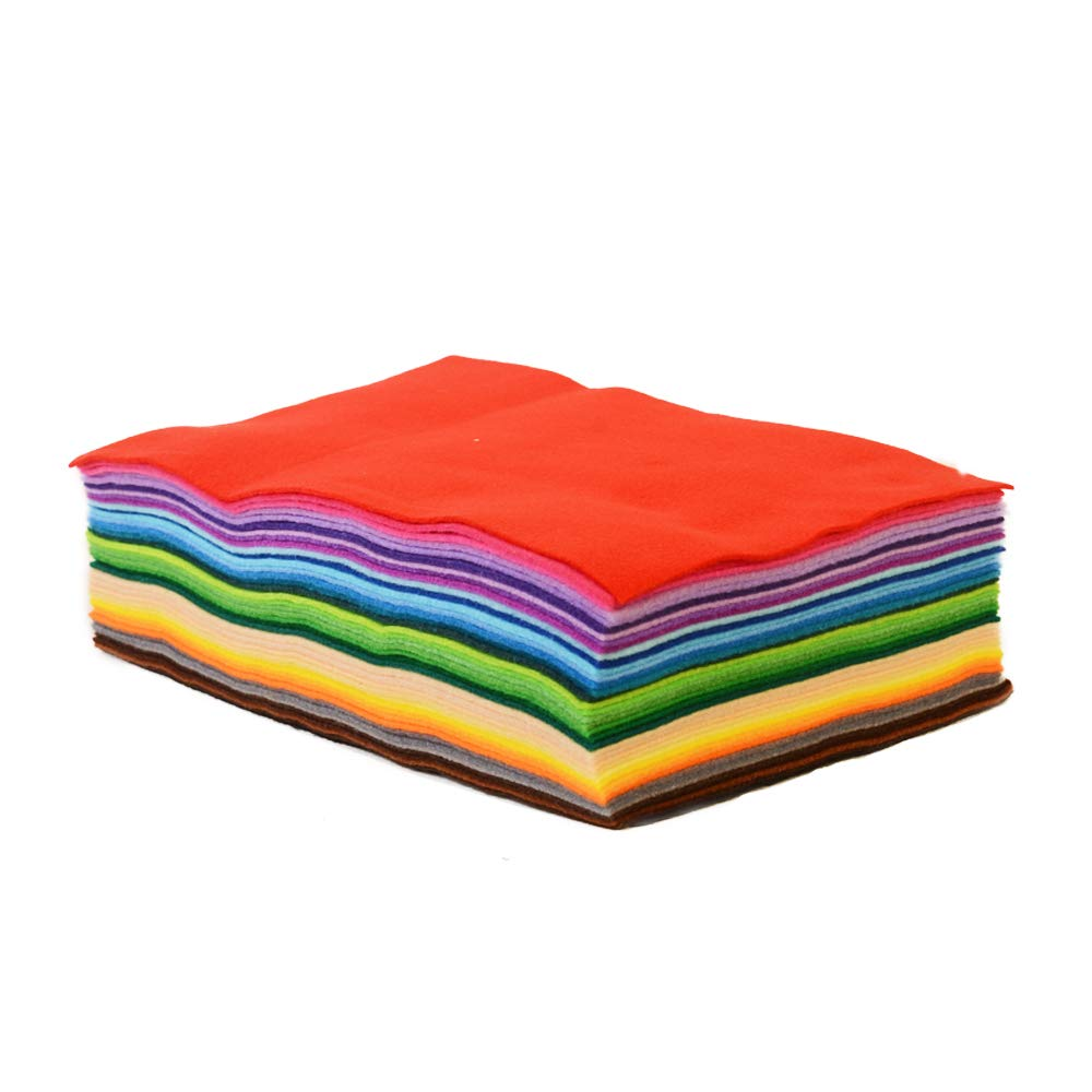 Onepine 15pcs 7.9x11.8 inch(20x30 cm)Craft Felt Fabric Sheets