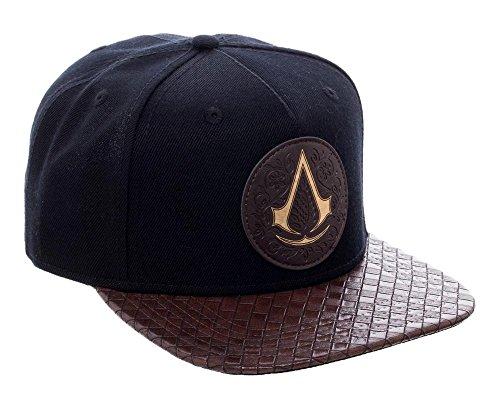 [Assassins Creed Movie Black Snapback PU Leather Bill Baseball Hat Adjustable Cap] (Assassin Creed Movie Costume)