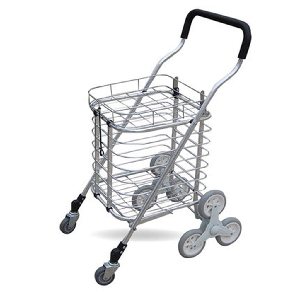 c43427ab8613 Amazon.com: Hand Trucks Folding Trolley Aluminum Shopping Cart ...