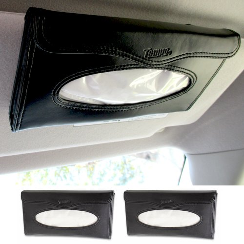 2 Car Visor Tissue Holder Caddy Kits Refill Kleenex Cases Handy Truck Black New