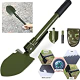 Shovelful Grasp - Camping Shovel Portable Folding Military Compass Outdoor Survival Emergency Tool - Picture Ambit Scope Power Comprehend Excavator Circumnavigate Digger Savvy - 1PCs