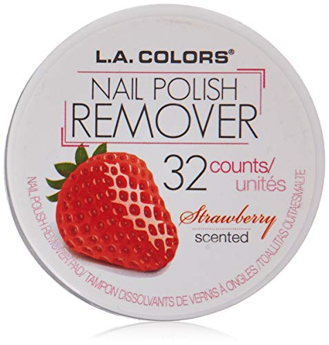 (L.A. Colors Nail Polish Remover Pads, Strawberry Scent, 1 Ounce)