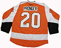 Chris Pronger Autographed Philadelphia Flyers Jersey W/PROOF, Picture of Chris Signing For Us, Philadelphia Flyers, Anaheim Ducks, St. Louis Blues, Edmonton Oilers, Stanley Cup Champions