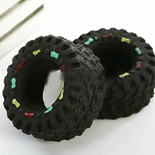 RayLineDo Tire shape toy with a squeaker in it (Rubber Pup Treads)