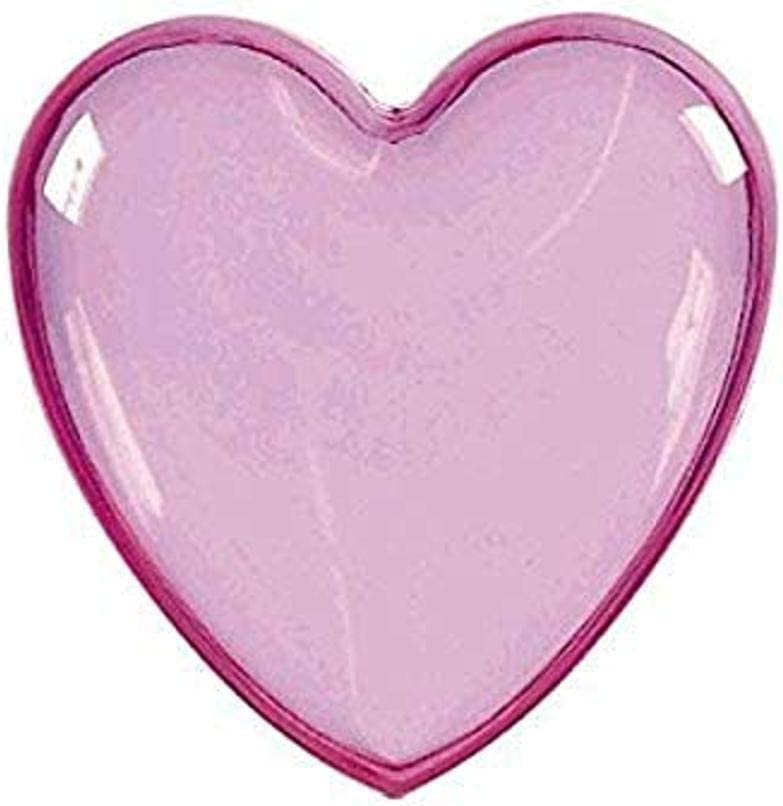 amscan Heart-Shaped Plastic Container | Pink | Party Accessory, 3