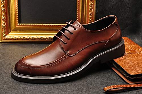 LOVDRAM Stiefel Männer Four Seasons Herren Classic Geschäft Schuhe Runden Kopfband Leder Geschäft Kleid Komfortable Herrenschuhe Leder Schuhe