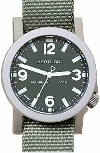 eaec008567a Bertucci A-6A Experior 16502 Mens Defender Drab Nylon Band Marine Green  Japan Quartz Dial