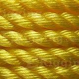"Sea-Strand 1/4"" x 600' Reel, Yellow, 3-Strand"