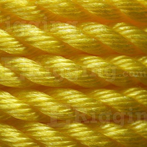 Yellow 3-Strand Polypropylene Rope Sea-Strand 1//2 x 600 Reel
