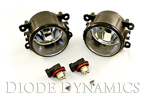 Diode Dynamics Glass Foglight Conversion Kit w/ H11 XML2 Natural White for 2015-2016 Ford Mustang
