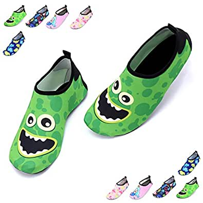 BJGXFMQ Unisex-Child Aqua Socks Green Size: 1 Little Kid