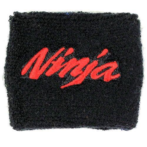 Kawasaki NINJA Black/Red Clutch Reservoir Cover by MotoSocks Fits ZX-6R, ZX-9R, ZX-10R, ZX-12R, ZX-14R, ZX6, ZX9, ZX10, ZX12, ZX14, Ninja (Clutch Reservoir Cover)