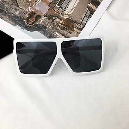VVIIYJ Gafas de Sol con Montura Grande Mujer Negra Gafas de ...