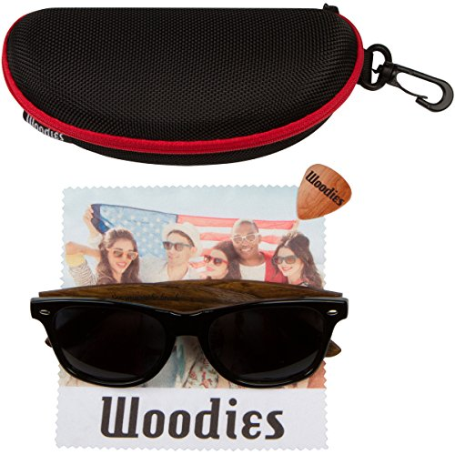 WOODIES Walnut Wood Sunglasses with Polarized Lenses