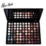Hername Makeup Artists Must Have Best Pro Eyeshadow Palette Makeup - Matte + Shimmer 88 Colors- Boutique,(Highly Pigmented Natural Nude and Bronze Neutral Smoky)