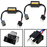 iJDMTOY (2) H4 9003 HB2 LED Headlight Canbus Error Free Anti Flicker Resistor Canceller Decoders (Plug-In-Play)