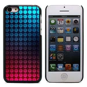 MOBILEONE Apple iPhone 5C Carcasa Trasera Rigida Aluminio Con 3x Protectores de Pantalla y Lapiz Boligrafo - Blue Pink Dots