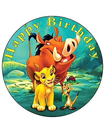 Remarkable 7 5 Inch Edible Cake Toppers Lion King Simba Timon And Pumbaa Funny Birthday Cards Online Alyptdamsfinfo