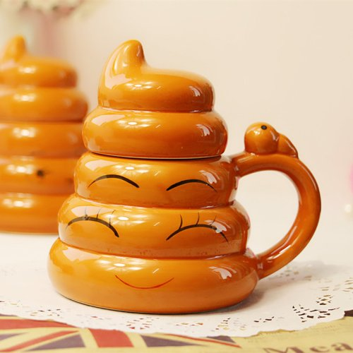 LightInTheBox 1PC Creative Whimsy Gold Poop Cup Two Thousand Ceramic Personality Cup (Random Style)