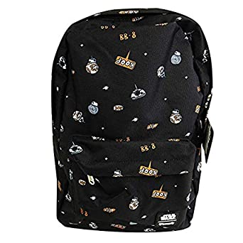c98babb3be9 Amazon.com   Loungefly x Star Wars Space Droid AOP Backpack (One ...