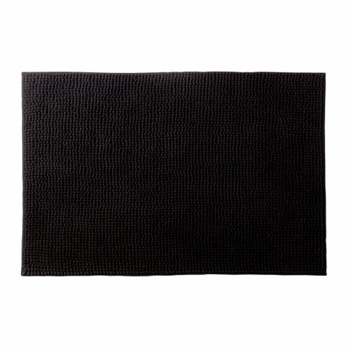 Ikea Black Toftbo Supersoft Bath Shower Mat Rug Bathtub