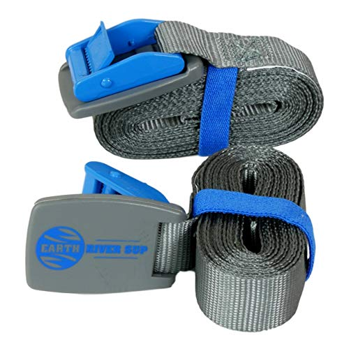 Earth River SUP Tie Down Straps for Paddle Boards, Kayaks, Surfboards and Canoes (Two Pack)