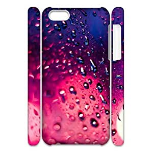 3D iPhone 5C Case,Rain Pink Bokeh Hard Shell Back Case for White iPhone 5C