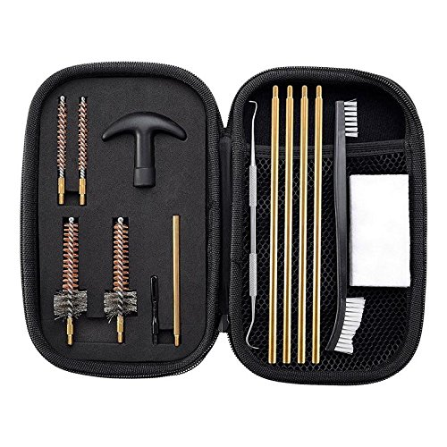 BOOSTEADY Pro .223/5.56 AR15/M16/M4 Rifle Gun Cleaning Kit with Bore Chamber Brushes Cleaning Pick Kit, Brass Cleaning Rod in Zippered Organizer Compact Case by