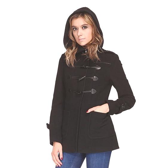 Amazon.com: Zareen by BC24 Women's Wool Duffle Coat with Hood ...