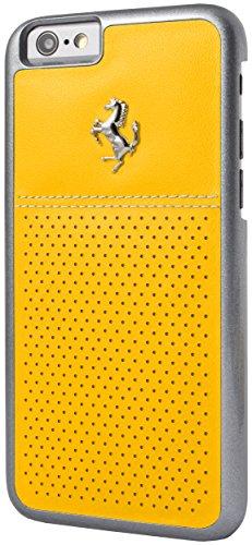 Ferrari GT Berlinetta Perforierte Hard Case mit Beige Stitching für Apple iPhone 6/6S 11 cm (4,7 Zoll) gelb