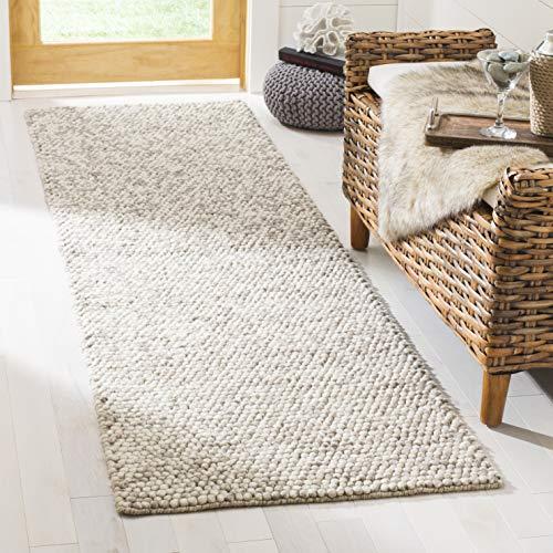 Safavieh NAT620B-26 Natura Collection NAT620B Beige Premium Wool (2' x 6') Runner