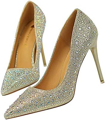 Damen High Heel in gold