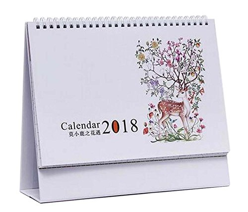 [G] November 2017 to December 2018 Desk Calendar Desktop Calendar Schedule