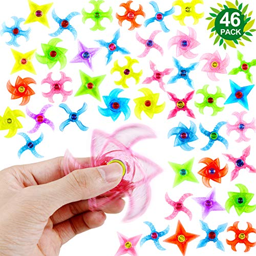 46-Pack Party Fidget Gyro Set,Mini Plastic Finger Gyro,Fidget Spiral Twister Toys Spinner Party Pack By SephireREX (Random Styles And Colors) for $<!--$16.99-->