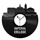 VinylShopUS Imperial College Vinyl Wall Clock Skyline Record Home Room | Home Decoration