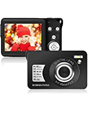$32 » Digital Camera,Support 128GB SD Card(Not Included), 30MP 2.7 Inch 1080P HD Mini Camera Point and Shoot Students Digital Camera for Kids Teenagers Beginners