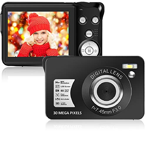 Digital Camera 2.7inch HD Mini Digital Video Camera Point and Shoot Students Digital Camera for Kids Teenagers Beginners