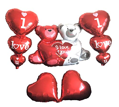Shiny Valentines Day Decor Love Bear, I Love