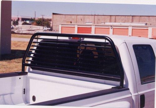 Go Industries Round Tube Headache Rack Black Ford F250+ 1999 to 2005 SuperDuty