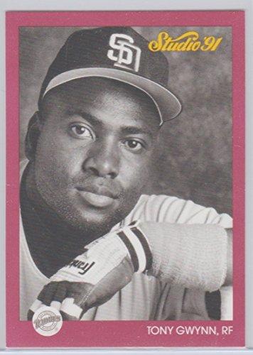 - Tony Gwynn 1991 Leaf Studio Vintage Baseball Card #245 San Diego Padres