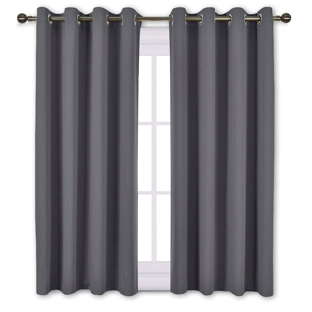 lovely 52 Inch Length Curtains Part - 9: Amazon.com: NICETOWN Bedroom Blackout Curtains Panels - Window Treatment  Thermal Insulated Solid Grommet Blackout for Living Room (Set of 2 Panels,  52 by 63 ...