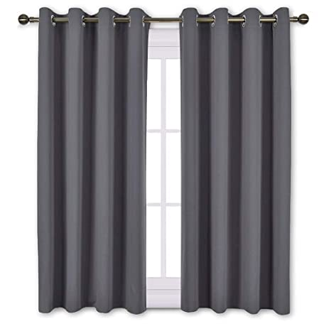 Amazoncom Nicetown Bedroom Blackout Curtains Panels Window