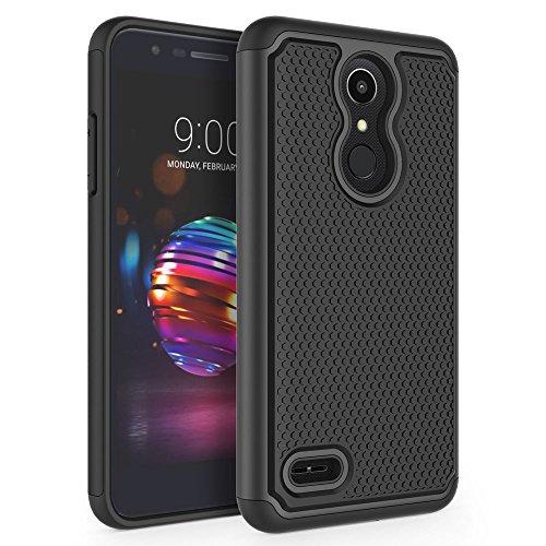 LG K10 2018 Case, LG K30 Case, LG Premier Pro LTE Case, LG K10 Alpha Case, SYONER [Shockproof] Defender Phone Case Cover [Black]