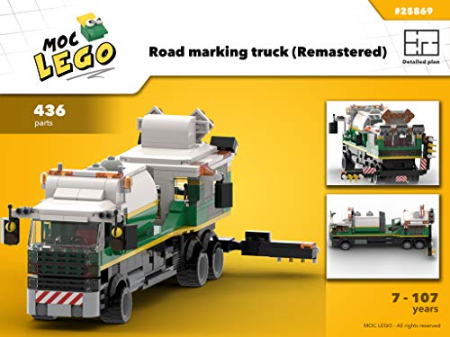 Road marking truck (Remastered): MOC LEGO por Bryan Paquette