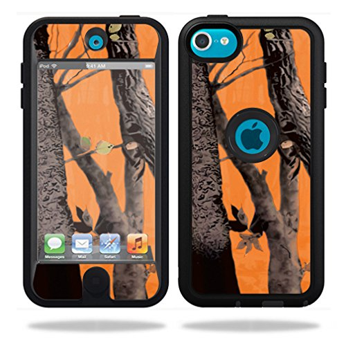 MightySkins Protective Vinyl Skin Decal for OtterBox Defender iPod Touch 5G Case wrap cover sticker skins Orange Camo