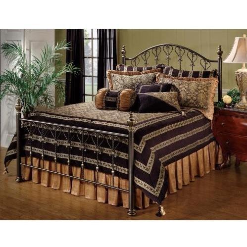 (Hillsdale Furniture 1332BK Huntley Bed Set, King, Dusty Bronze )