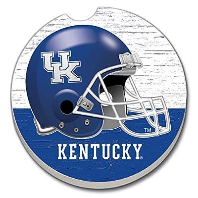 CounterArt Absorbent Stone Single Fan Car Coaster- Kentucky Helmet Coaster